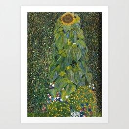 The Sunflower (and wildflowers) by Gustav Klimt Art Print