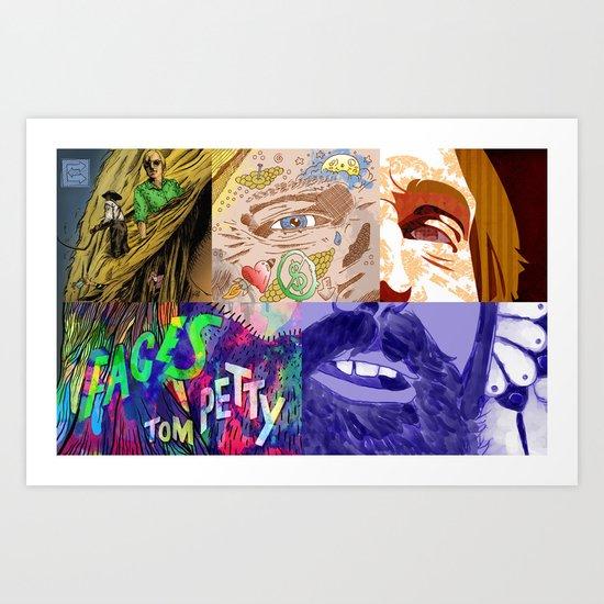 """Faces - Petty"" by Blackard, Boehm, Fiche, Livengood, & McCarthy Art Print"