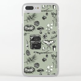 Forest Notes Clear iPhone Case