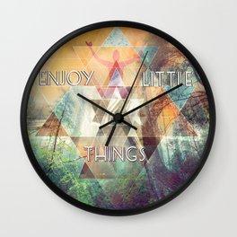 Enjoy Little Things Wall Clock