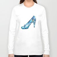 shoe Long Sleeve T-shirts featuring Cinderella Shoe by Chris Thompson, ThompsonArts.com
