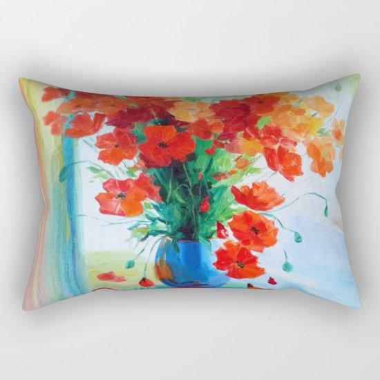 Bouquet of poppies Rectangular Pillow