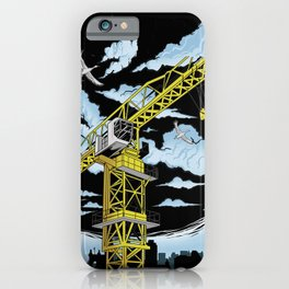 Tower Crane In The SKY iPhone Case