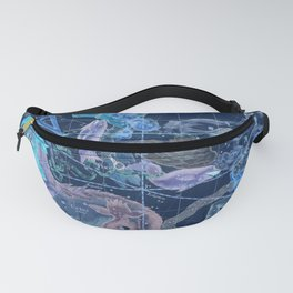 Star Atlas Vintage Constellation Map Blue Ignace Gaston Pardies Fanny Pack