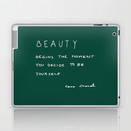 Beauty begins Laptop & iPad Skin