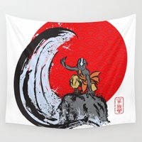 avatar Wall Tapestries featuring Aang in the Avatar State by Tom Ledin