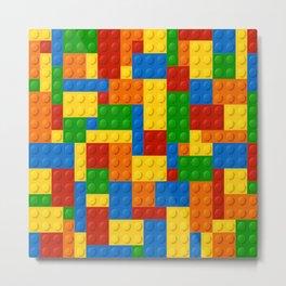 LEGO Building Blocks LEGO Blocks Pattern Colorful Boy Decor Metal Print