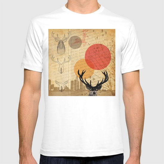 deer in the city T-shirt