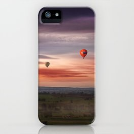 hot air balloons iPhone Case
