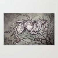 unicorn Canvas Prints featuring Unicorn by Caitlin Hackett