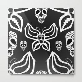 Butterfly skull. Metal Print