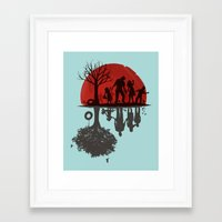 dead Framed Art Prints featuring A Family Once by Jay Fleck