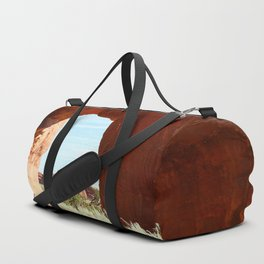 At The End Of The Trail - Pine Tree Arch Duffle Bag