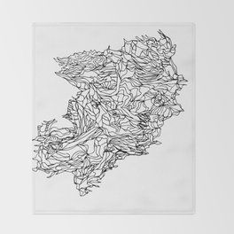 lines draw Throw Blanket