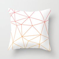 polygon Throw Pillows featuring polygon by OHOO SIX