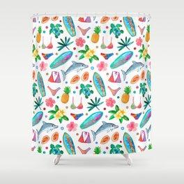 Dotty Summer Beach Pattern Shower Curtain