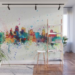 Kansas City Skyline Wall Mural