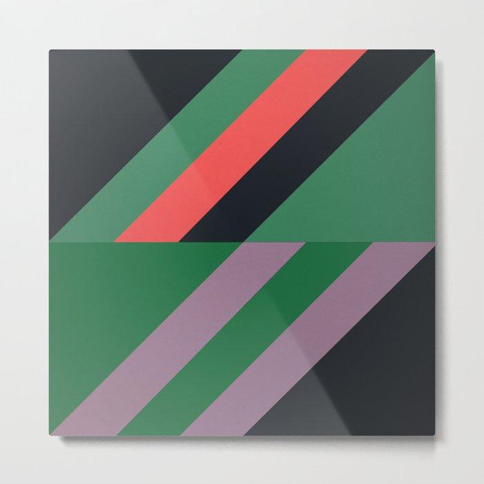 Modernist Geometric Graphic Art Metal Print