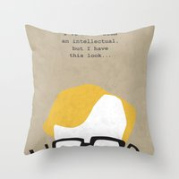 woody Throw Pillows featuring Woody by Geminianum