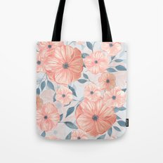 Watercolor floral pattern Tote Bag