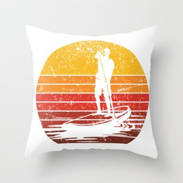 Stand Up Paddle Boarding Man Throw Pillow
