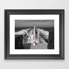 Salute B&W Framed Art Print