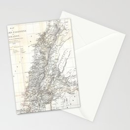 Vintage Map of Lebanon (1856) Stationery Cards