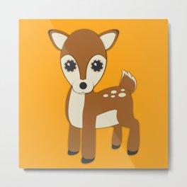 Forest Deer Nursery Set Metal Print