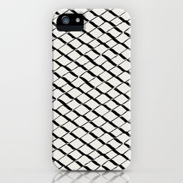 Modern Diamond Lattice 2 Black on Light Gray iPhone Case