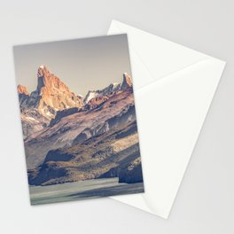 Fitz Roy and Poincenot Andes Mountains - Patagonia - Argentina Stationery Cards