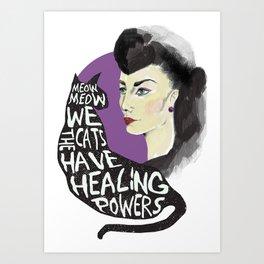 Healing powers Art Print