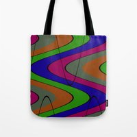 70s Tote Bags featuring 70s Baby by Sha Mitchell