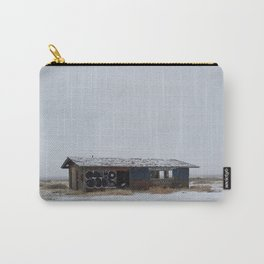 Hopeless, Abandoned, and Alone Under Grey Snow Filled Sky Carry-All Pouch