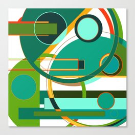 D is for Deco: Abstract Art Deco Font Typography Canvas Print