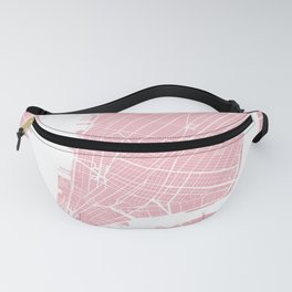Pink City Map of New York, USA Fanny Pack