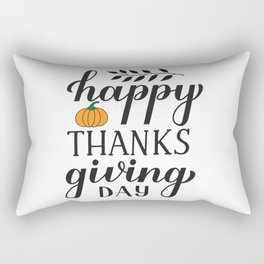 Happy Thanksgiving Day calligraphy lettering Rectangular Pillow