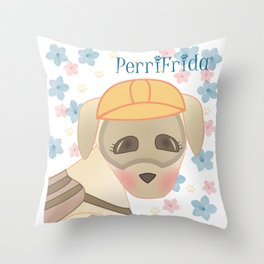 PerriFrida Rescatista de #FuerzaMexico Throw Pillow