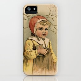 Swedish Girl Maud Humphrey iPhone Case