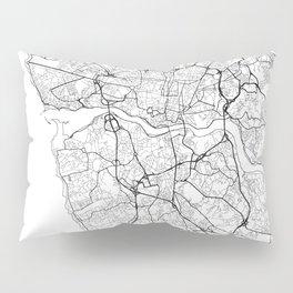 Porto Map White Pillow Sham