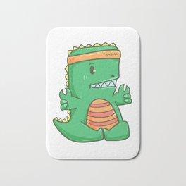 T-Rex dinosaur Meditation Yoga Sport Gift Bath Mat