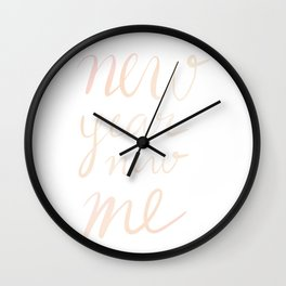 New Year New Me Wall Clock