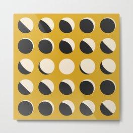 Moon Phased in Honey Metal Print