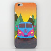 volkswagon iPhone & iPod Skins featuring Das Auto by Daizy Jain