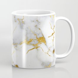 Gray And Gold Girly Marble  Coffee Mug