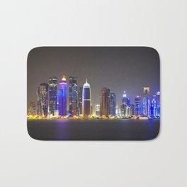 Paysage urbain de Doha // Doha Cityscape Bath Mat