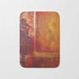 Abstract Art Color Fields Orange Red Yellow Gold by Philip Bowman Bath Mat