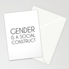 Gender is a Social Construct Stationery Cards