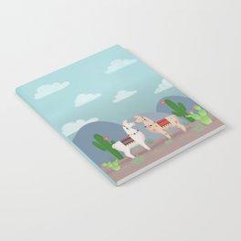 Cute Llamas Illustration Notebook