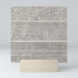 The Rosetta Stone // Antique White Mini Art Print