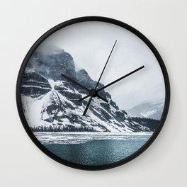 Bow Lake Alberta Wall Clock